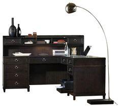 Hooker Furniture Kendrick L Desk transitional-desks-and-hutches