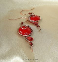copper wire earrings with red bezant ceramic bead and garnet color glass beads Wire Earrings, Drop Earrings, Ceramic Beads, Wire Work, Copper Wire, Wire Wrapped Jewelry, Garnet, Glass Beads, Pendant Necklace
