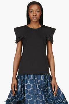 Comme Des Garçons Black Pointed Ester T-shirt for women | SSENSE