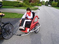 Special Needs Bicycle Trailer Blue Sky Cycle Carts The