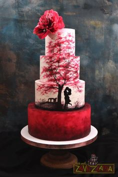 Image result for travel themed red wedding cakes