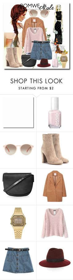 """""""Style"""" by lena-volodivchyk ❤ liked on Polyvore featuring Essie, GlassesUSA, Gianvito Rossi, Topshop, MANGO, Casio, Chicnova Fashion and rag & bone"""