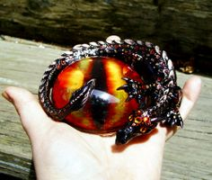 Magma Dragon Paperweight. Cast from run.