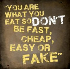 Good way to put it. healthy eating