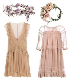 """A Midsummer Night's Dream (Helena and Hermia)"" by jenniferfachan on Polyvore featuring art, Summer, Flowers, dress, girly and shakespeare"