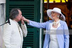 Gonzague Saint Bris and Princess Michael of Kent attend the 2Oth 'La Foret des Livres' book fair on August 30, 2015 in Chanceaux-pres-Loches, France.  (Photo by Marc Piasecki/Getty Images)