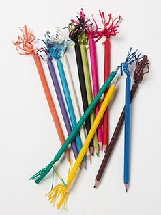 A festive pencil set lets you take color-coordinated notes with flair. Banderole Pencil Set, $12. anthropologie.com.