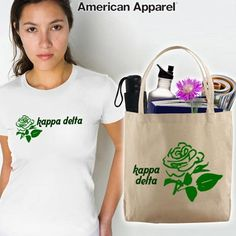 Kappa Delta Sorority Mascot Printed Tee and Tote Package