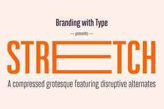 Bw Stretch — Entire family by Branding with Type on @Graphicsauthor