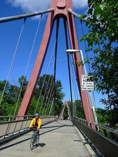 DeFazio Foot Bridge, Eugene Oregon. I run across this bridge almost every day.