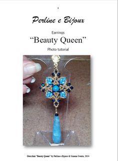 ENGLISH Tutorial BEAUTY QUEEN earrings  English by PerlineeBijoux