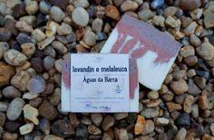 Sabonete artesanal Lavandin e Melaleuca. Vegano, 55% de óleos orgânicos, cold process.
