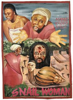 Snail Woman - Ghanian horror movie poster