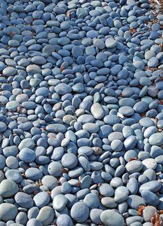 "Mexican Beach Pebble, Black, ½-1"""