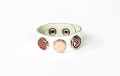 Stunning Mila + Ruby bracelet - made with 100% genuine leather and individually handcrafted pebbles (from Nepal)