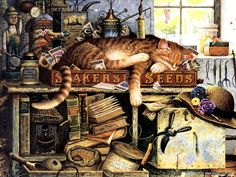 charles+wysocki | Charles Wysocki : Cat Tales, Amazing Loveable Cat Art 1024*768 NO.6 ...