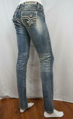 Rock Revival Betty Straight Jeans Distressed Destroyed sz 25 X 32 EUC Rock Revival Jeans, Jeans And Boots, Blue Jeans, Jeans Size, Women's Clothing, Clothes For Women, Cotton, Fashion, Women's Clothes