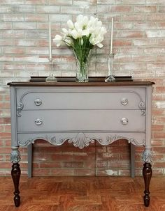 buffet table painted furniture painted side server antique #affiliate