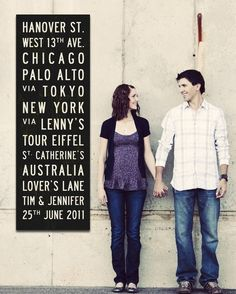 what a great idea for a save the date postcard!