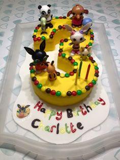 Bunny Birthday Cake, 3rd Birthday Cakes, Bing Cake, Bing Bunny, Bunny Party, Funny Cake, Cakes For Boys, Cake Tutorial, Cupcake Cakes