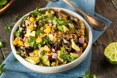 cilantro-lime-quinoa-salad-clean-eating-recipe (try with rice)
