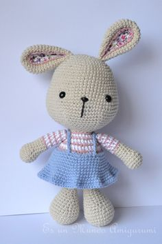 Easter Bunny Amigurumi Pattern by EsunMundoAmigurumi on Etsy