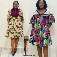 Short African Dresses, Ankara Short Gown Styles, African Fashion Dresses, Ankara Fashion, Ankara Peplum Tops, Ankara Skirt And Blouse, Ankara Dress, Vitenge Dresses, Event Dresses