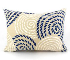 Lumbar Pillow Cover Navy Blue Robert by MyPillowStudio, $10.00