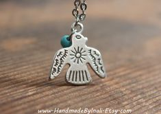 THUNDERBIRD Eagle spirit bird-silver plated Native American inspired necklace Boho Tribal Southwestern Free people style Layering necklace on Etsy, $18.00
