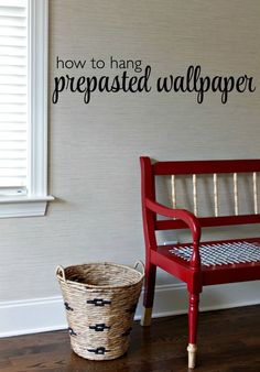 Hanging pre-pasted wallpaper is relatively easy. It's a little time consuming, but it's not a difficult diy at all. With a little patience and a weekend you could knock out a wallpaper project with