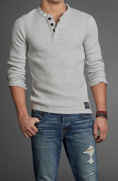 Feldspar Brook Henley like the style of shirt, thick 3 button #mensoutfitscasual