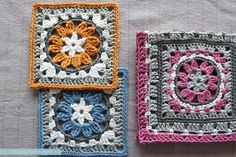 """Anemone"" Granny Square - Free Pattern & Photo Tutorial - Pasta & Patchwork"