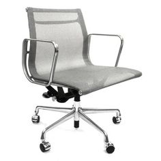 Eames management chair in gray mesh. Must have!