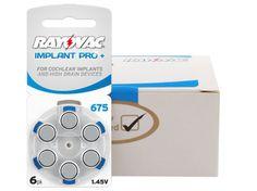 Batteries RAYOVAC 675 IMPLANT PRO+ box (60 pcs) | SHOP \ BATTERIES \ 675 BATTERIES \ 675 | SmartEar.pl