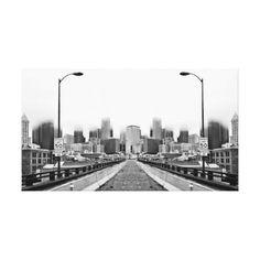 Alaskan Way Viaduct Downtown Seattle Reflection Canvas