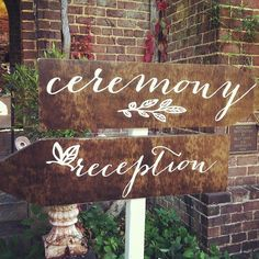 Amazing wooden signs that match the stationery font. #Padgram