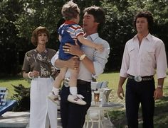 Dallas Bobby Pamela and Christopher Ewing Joe Don Ford Kevin Tighe, Randolph Mantooth, Dallas Tv Show, Victoria Principal, Child Love, Classic Tv, I Fall In Love, Bobby, Favorite Tv Shows