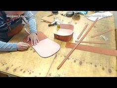 How To Make a Simple Leather Purse - YouTube