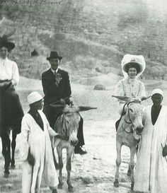 Agatha Christie in Egypt.