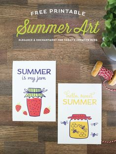Summer Art Printables - Designed by Elegance & Enchantment for Today's Creative Life- Create wall art, printable gift tags and more. See more creative ideas on TodaysCreativeLife.com