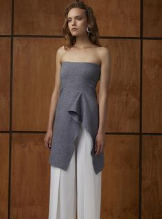 C/MEO Collective Break Free Knit Skirt – Grey Marle (worn as a top)