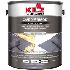 Kilz Over Armor Wood ; Concrete Resurfacer, 1 gallon, Gray