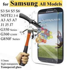 Para samsung galaxy s6 s7 a5 a3 g530 vidrio templado 0.3mm ultra protector de pantalla delgada para samsung j5 j3 s3 s4 s5 mini película cubierta