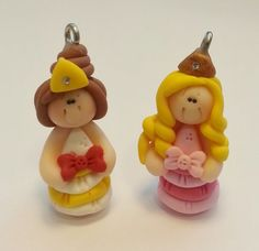 Princess Polymer Clay Charm Bead Scrapbooking by RainbowDayHappy, $2.85