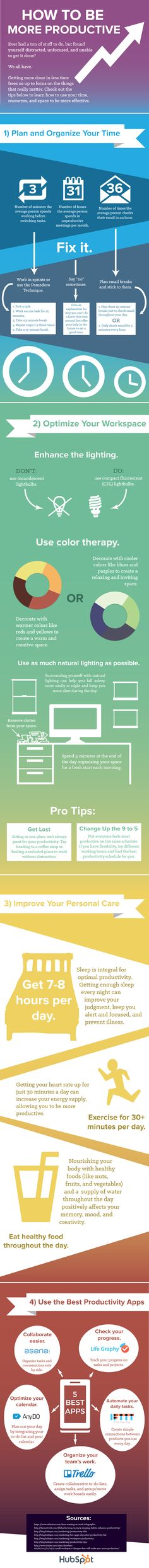 13 Productivity Tips for the Busy Professional (Infographic by @HubSpot)