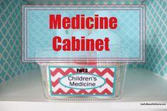 ideas medicine cabinet organization labels diy for 2019 Organizing Labels, Budget Organization, Small Space Organization, Organization Ideas, Medicine Cabinet Organization, Bathroom Organization, Organize Medicine, Medicine Cabinets, Toy Labels