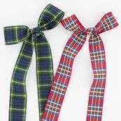 25mm Wide Polyester Tartan Ribbon
