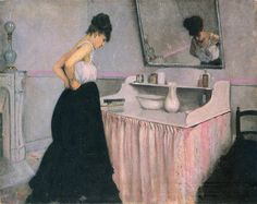 Woman at a Dressing Table, 1873 by Gustave Caillebotte