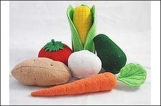 Vegetables Felt Food Patterns & Instructions   YouCanMakeThis.com