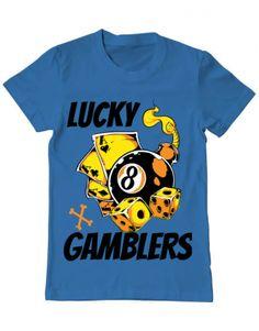 Tricou Tricou Lucky gamblers Mens Tops, T Shirt, Design, Fashion, Supreme T Shirt, Moda, Tee Shirt, Fashion Styles